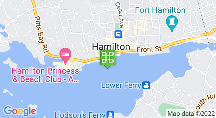 Map showing location of Hamilton Ferry Terminal