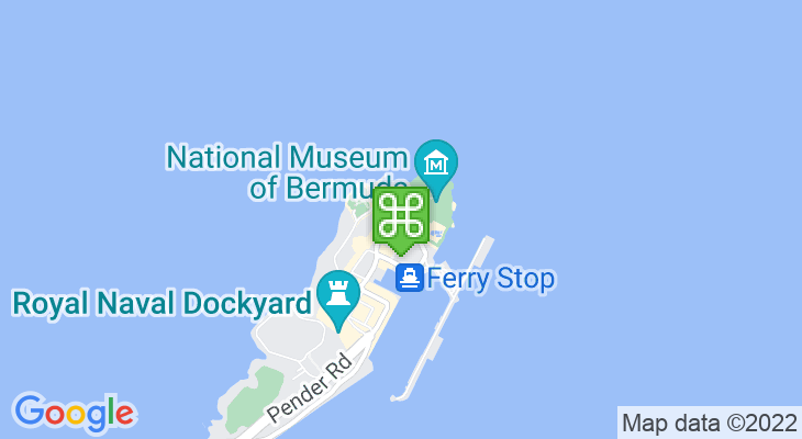 Map showing location of Bermuda Arts Centre