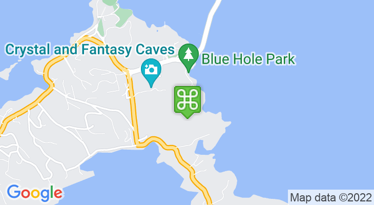 Map showing location of Blue Hole Park