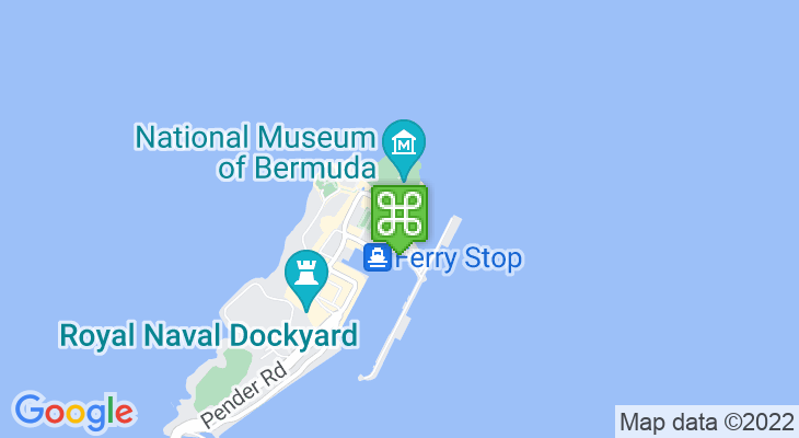 Map showing location of Dolphin Quest