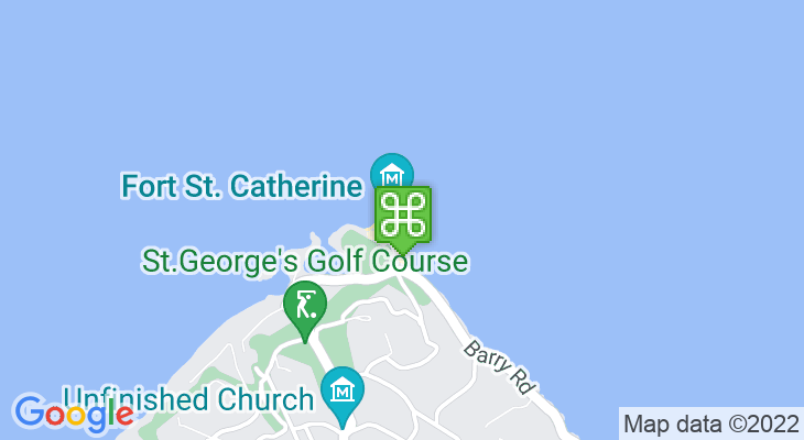 Map showing location of Fort St Catherine