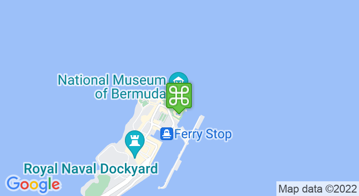 Map showing location of National Museum of Bermuda