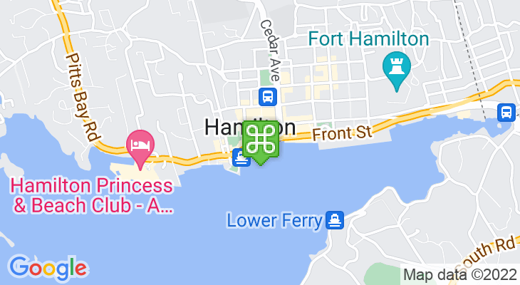 Map showing location of Harbour Nights 2018