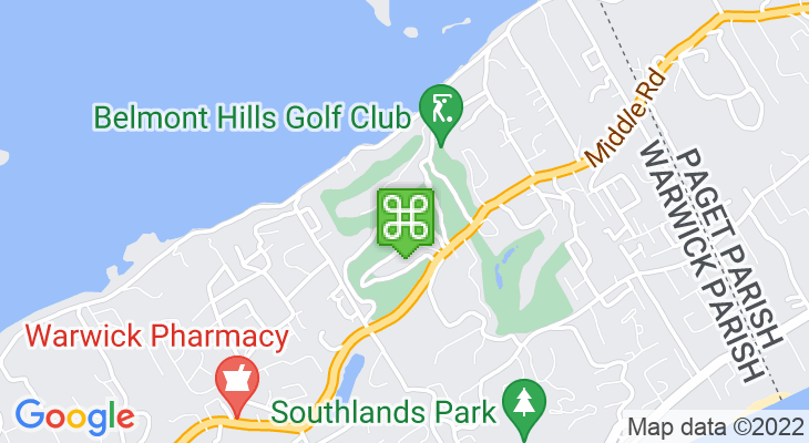 Map showing location of Belmont Hills Golf Club