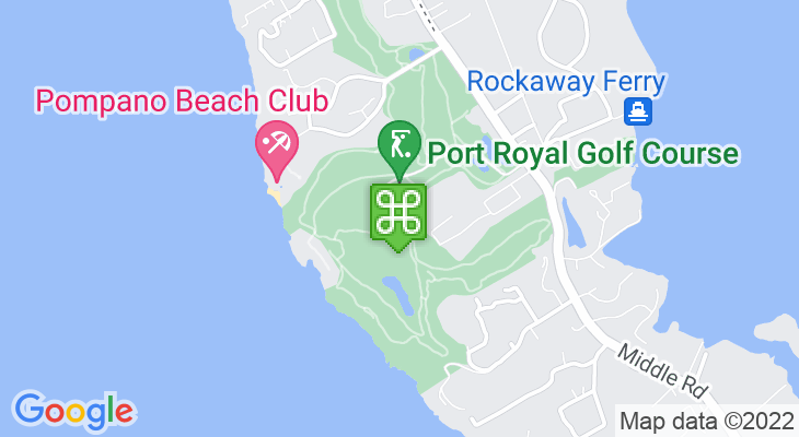 Map showing location of Port Royal Golf Course