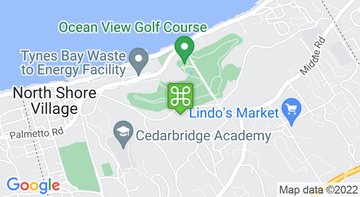 Map showing location of Ocean View Golf Course