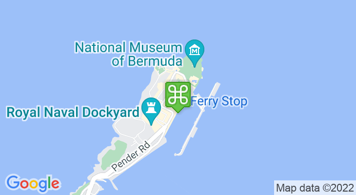 Map showing location of Dockyard Visitor Information Centre