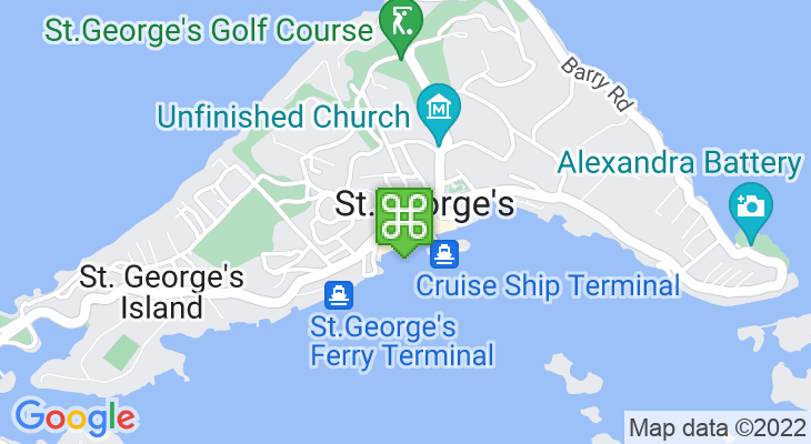 Map showing location of St George's Visitor Information Centre