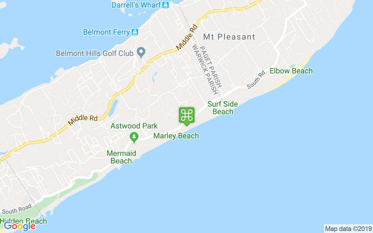 Map showing location of Swizzle Inn South Shore