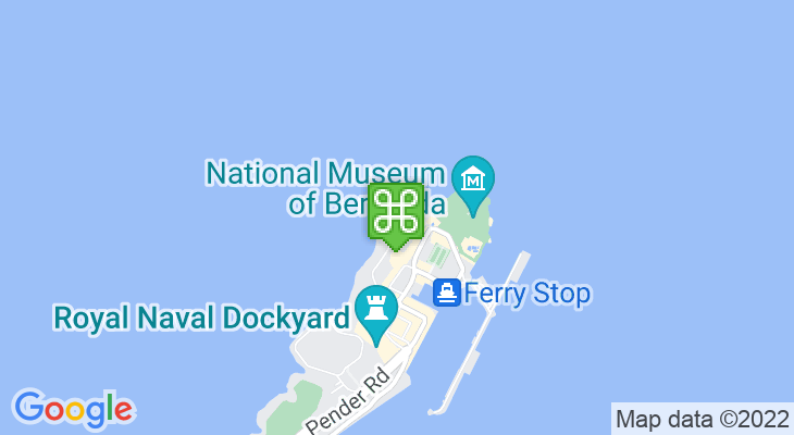 Map showing location of Bermuda Fun Golf