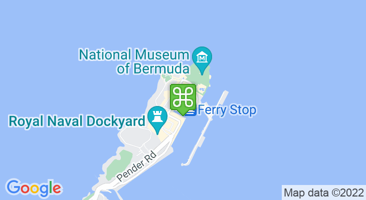 Map showing location of Dockyard Pastry Shop