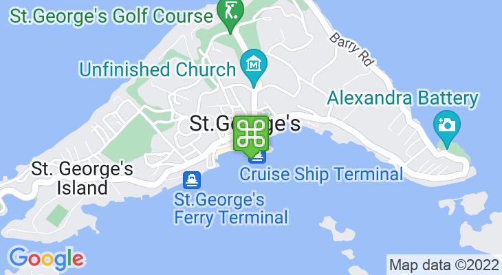 Map showing location of Bermuda National Trust Christmas Walkabout 2018
