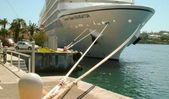 Cruise ship Seven Seas Navigator docked in Hamilton, Bermuda