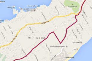 Bus Route 2 Bermuda - Hamilton, Botanical Gardens, Elbow Beach, Ord Road