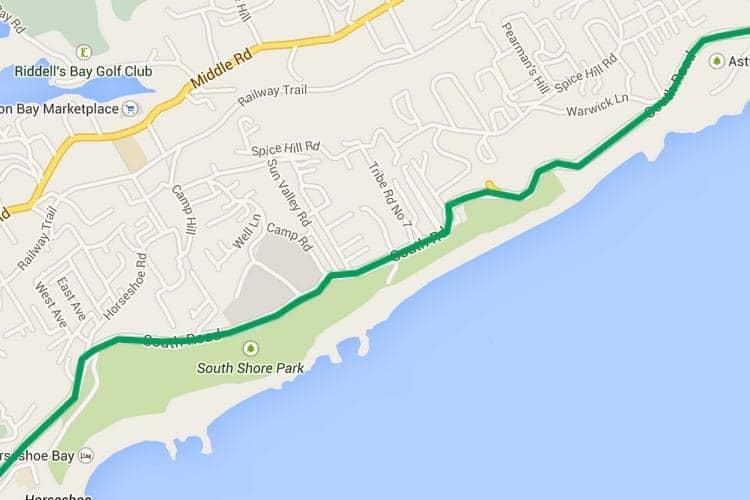 Bermuda Bus Route 7 - Dockyard, Kings Wharf To Hamilton, Horseshoe on