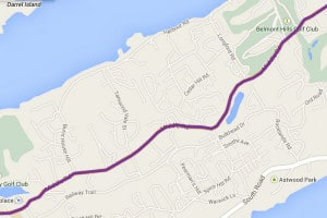 Bus Route 8 Bermuda - Hamilton, Middle Road, Royal Naval Dockyard