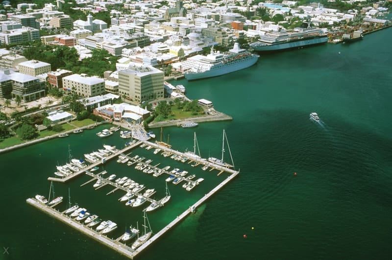 Aerial photograph of Albuoys Point in Bermuda