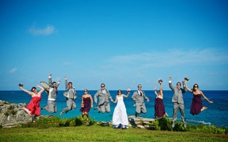 Wedding ceremony at Astwood Park – Photo by Howarth Photography