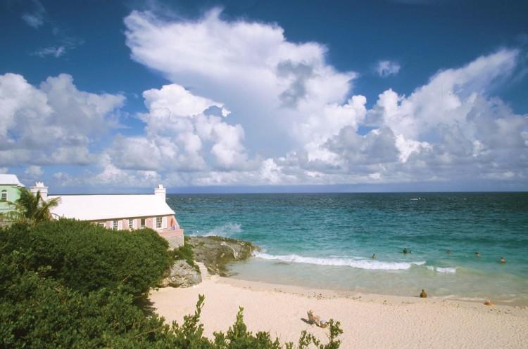 The beach at John Smiths Bay in Bermuda