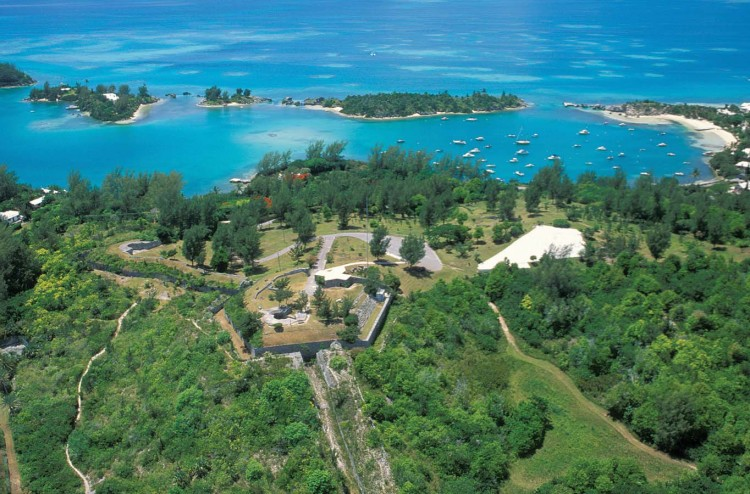 Scaur Hill Fort in Bermuda, built by the British army to protect Dockyard