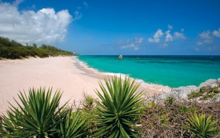 Warwick Long Bay, pink sand beach in Bermuda