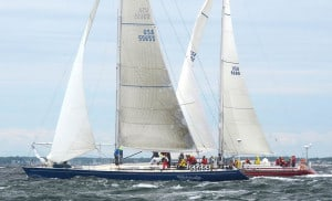 Shindig and Lady B at the 2013 Marion Bermuda Race.