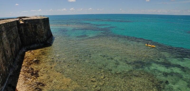 Kayaking in the crystal clear waters of Bermuda