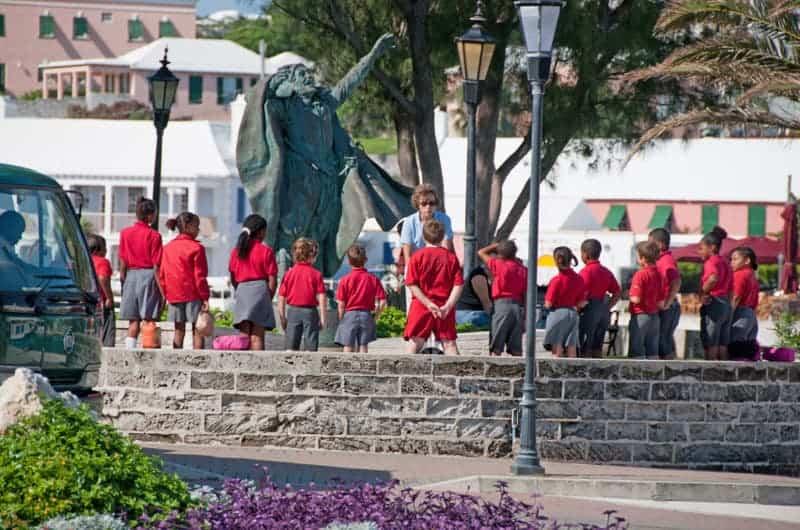 Statue of Sir George Somers in St George, Bermuda