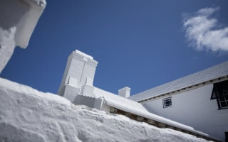 Whitewashed roofs are a typical feature of buildings in Bermuda