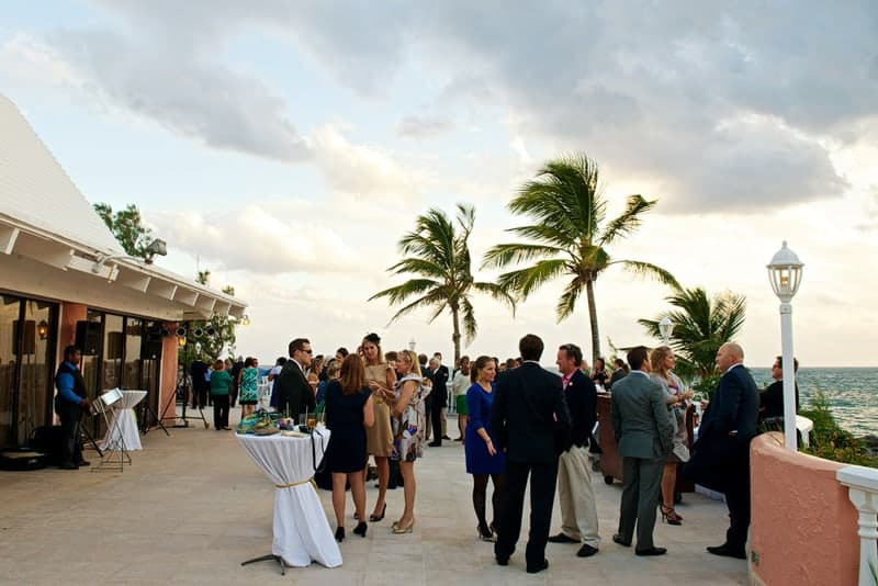 Wedding reception on the Beach Terrace at the Fairmont Southampton, Bermuda