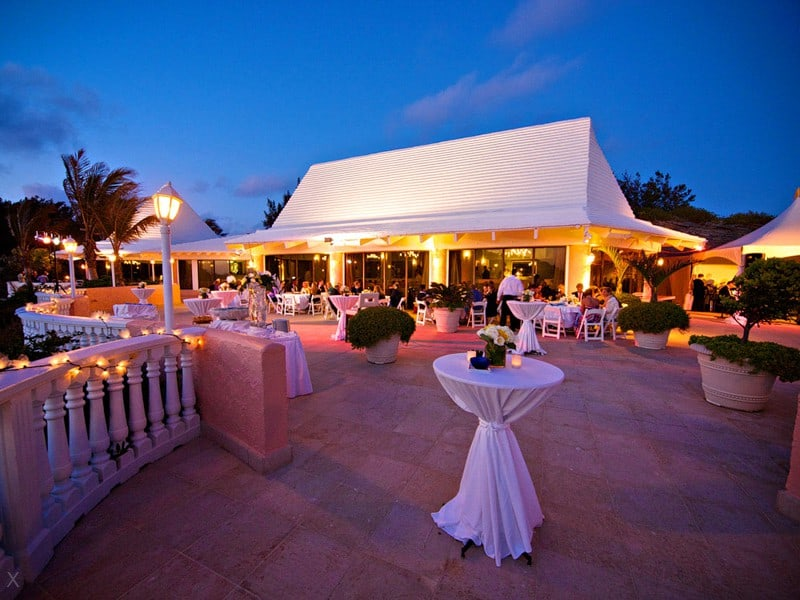 Ocean Club restaurant at dusk, Fairmont Southampton