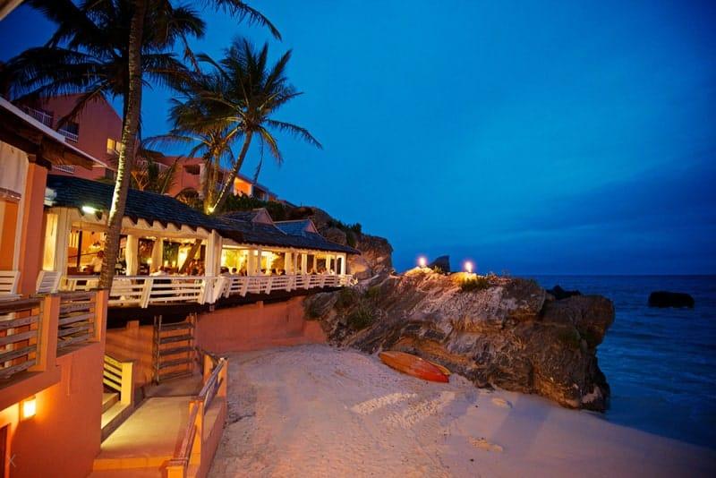 Coconuts restaurant at night