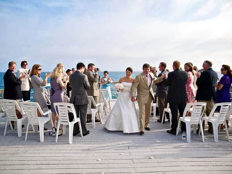 Couple just got married at the Reefs, Bermuda