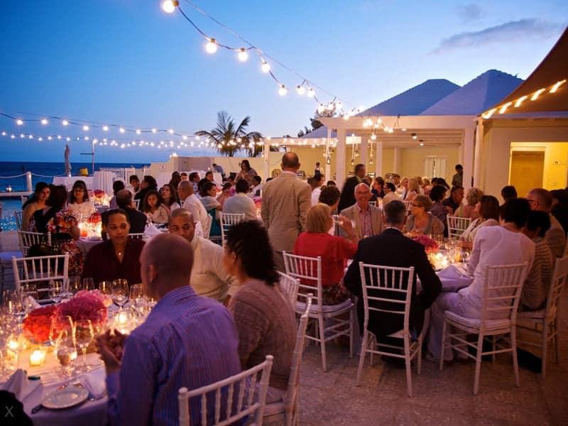 Wedding reception at Rosewood Bermuda