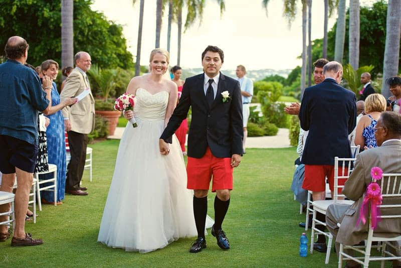 Wedding ceremony on the lawn at Rosewood Bermuda