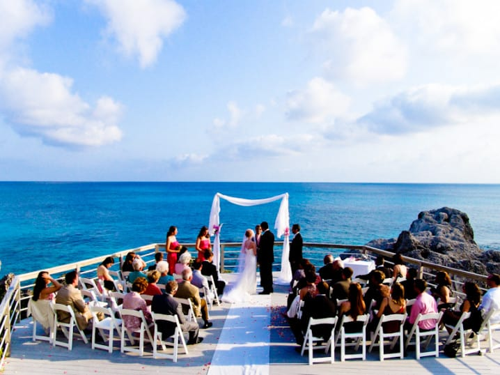 Wedding at Caso's Point, the Reefs hotel in Bermuda