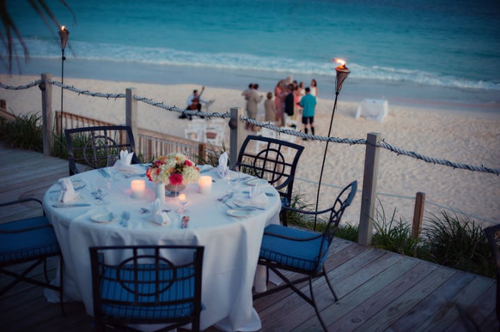 The Beach Club restaurant and bar at the Rosewood Tucker's Point hotel in Bermuda