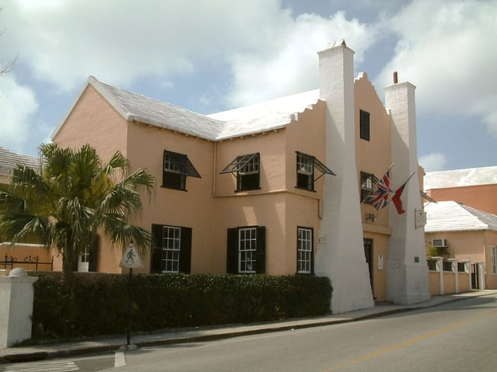 View of the Bermuda National Trust Museum in St George, Bermuda