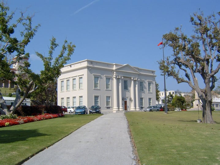 Cabinet Building in Bermuda housing the offices of the Premier