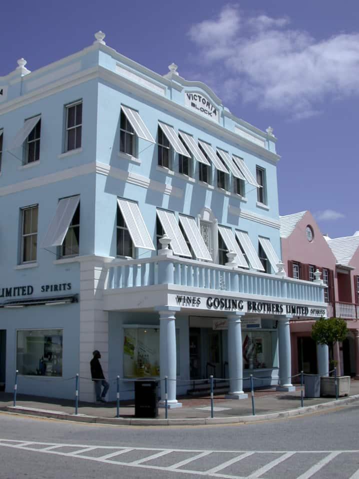 Goslings Bros store on Freet Street in Hamilton, Bermuda