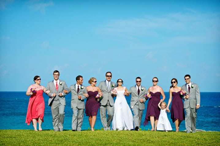 Wedding party at Astwood Park in Bermuda