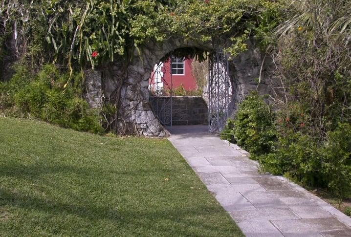 Moongate in a public park in Bermuda