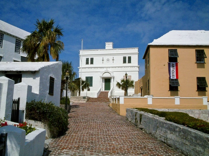 Old State House in the town of St George, Bermuda