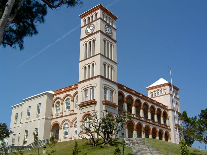 Sessions House - Bermuda Government building in Hamilton