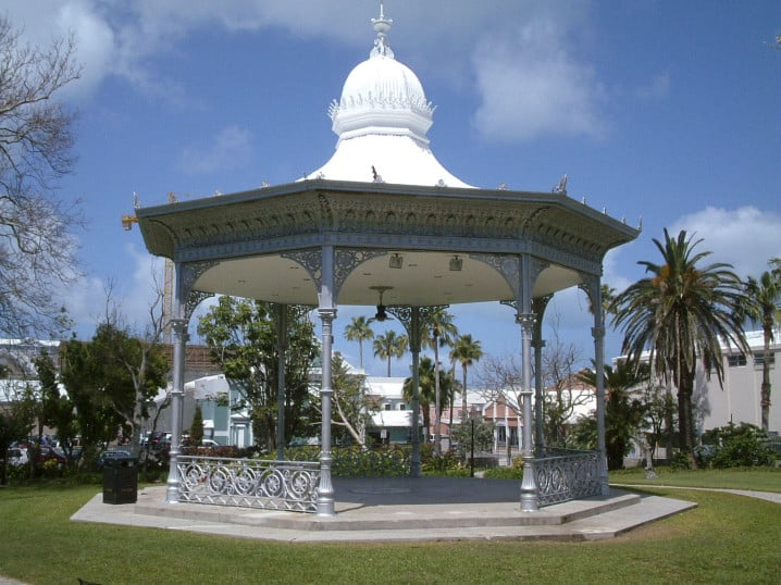 View of the bandstand in Victoria Park in Hamilton
